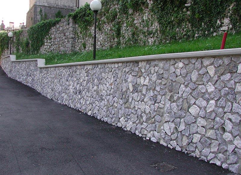 muri prefabbricati pietra